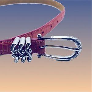 Brighton Accessories - Pink Brighton Leather Belt